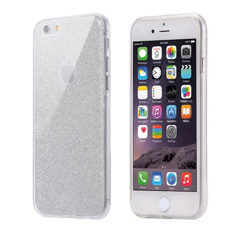 Crystal Case Hülle für Apple iPhone 5 / 5s / SE Glitzer Case Grau Full Body – Bild 2