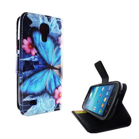 Handyhülle Tasche für Handy Samsung Galaxy S4 Mini Blauer Schmetterling – Bild 4