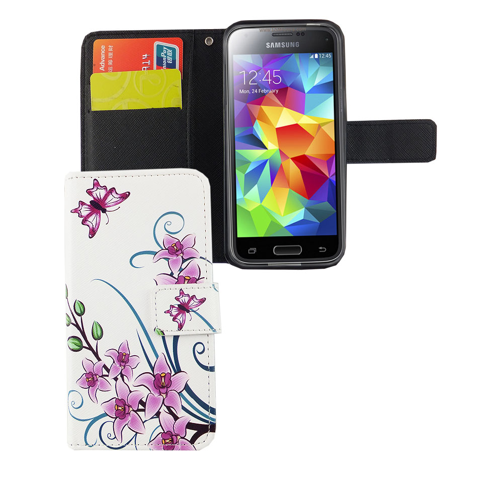 handyh lle tasche f r handy samsung galaxy s5 mini lotusblume. Black Bedroom Furniture Sets. Home Design Ideas