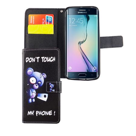 Handyhülle Tasche für Handy Samsung Galaxy S6 Edge Bär mit Beil