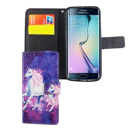 Handyhülle Tasche für Handy Samsung Galaxy S6 Edge Einhorn Magic – Bild 3