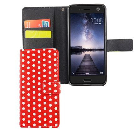 Handyhülle Tasche für Handy ZTE Blade V8 Polka Dot Rot – Bild 5