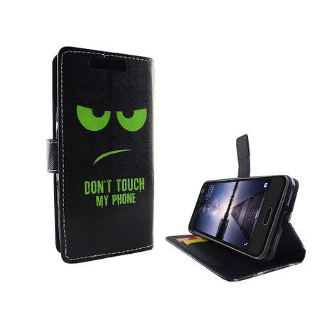 Handyhülle Tasche für Handy ZTE Blade V8 Dont Touch My Phone Grün – Bild 6