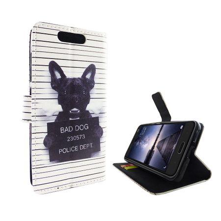 Handyhülle Tasche für Handy ZTE Blade V8 Böser Hund Weiß – Bild 2