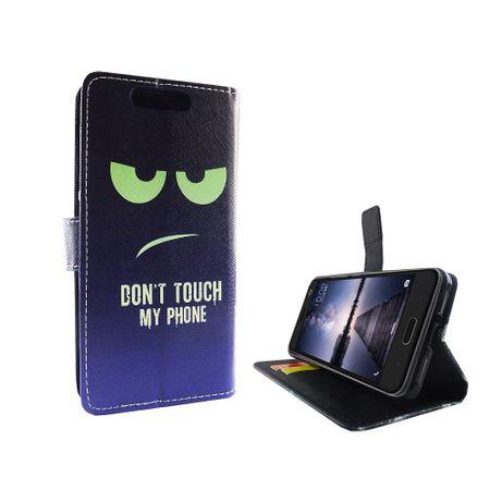 Handyhülle Tasche für Handy ZTE Blade V8 Dont Touch My Phone Blau / Grün – Bild 6