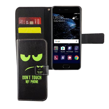 Dont Touch My Phone Handyhülle Huawei P10 Klapphülle Wallet Case
