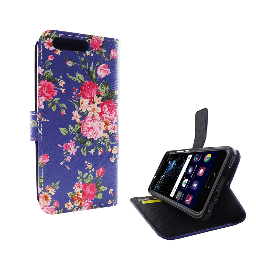 handyh lle tasche f r handy huawei p10 flower print. Black Bedroom Furniture Sets. Home Design Ideas