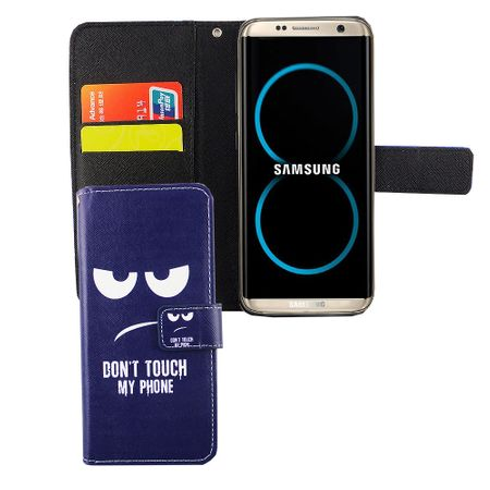 Handyhülle Tasche für Handy Samsung Galaxy S8 Dont Touch my Phone