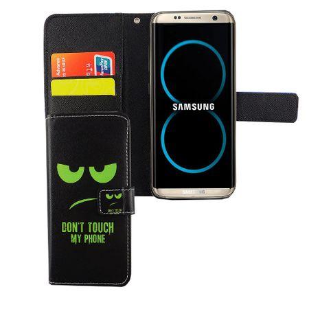Handyhülle Tasche für Handy Samsung Galaxy S8 Dont Touch My Phone Grün