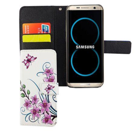 Handyhülle Tasche für Handy Samsung Galaxy S8 Lotusblume