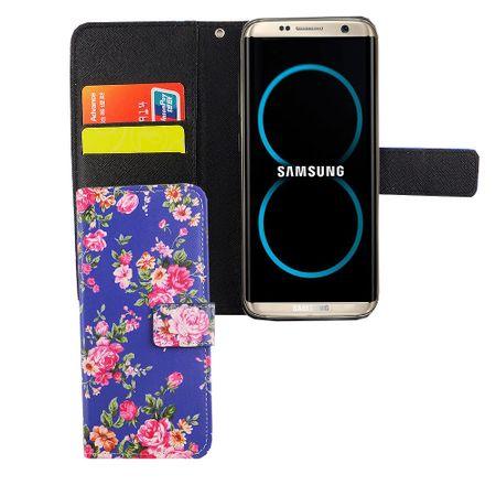 Handyhülle Tasche für Handy Samsung Galaxy S8 Flower Print