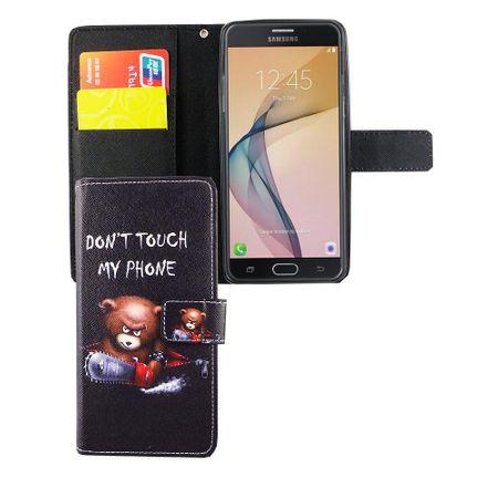 Handyhülle Tasche für Handy Samsung Galaxy J5 Prime Schriftzug Bär mit Kettensäge – Bild 5