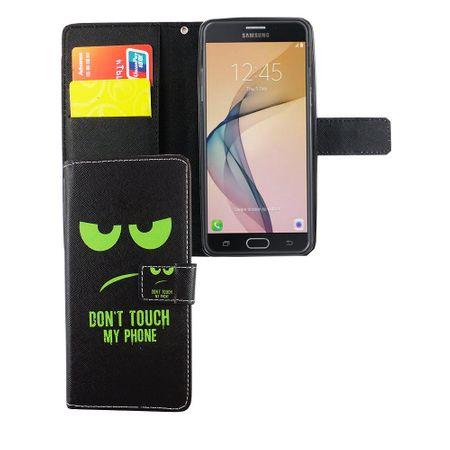 Handyhülle Tasche für Handy Samsung Galaxy J5 Prime Dont Touch My Phone Grün – Bild 5