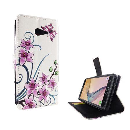 Handyhülle Tasche für Handy Samsung Galaxy J5 Prime Lotusblume – Bild 2