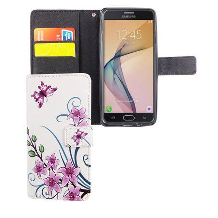 Handyhülle Tasche für Handy Samsung Galaxy J5 Prime Lotusblume – Bild 3