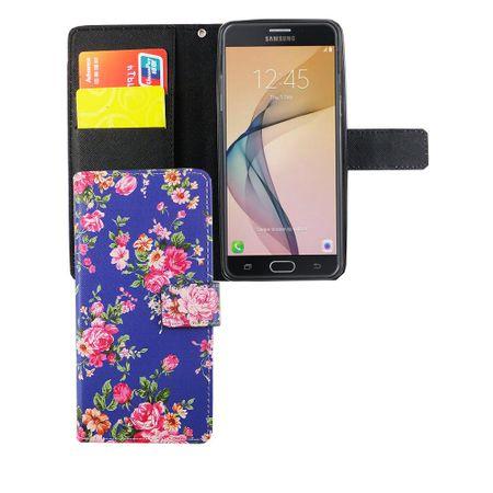 Handyhülle Tasche für Handy Samsung Galaxy J5 Prime Flower Print