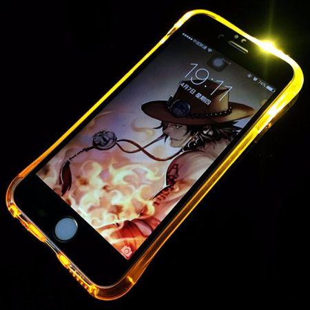 Handy Hülle LED Licht bei Anruf für Handy Apple iPhone 7 Gold