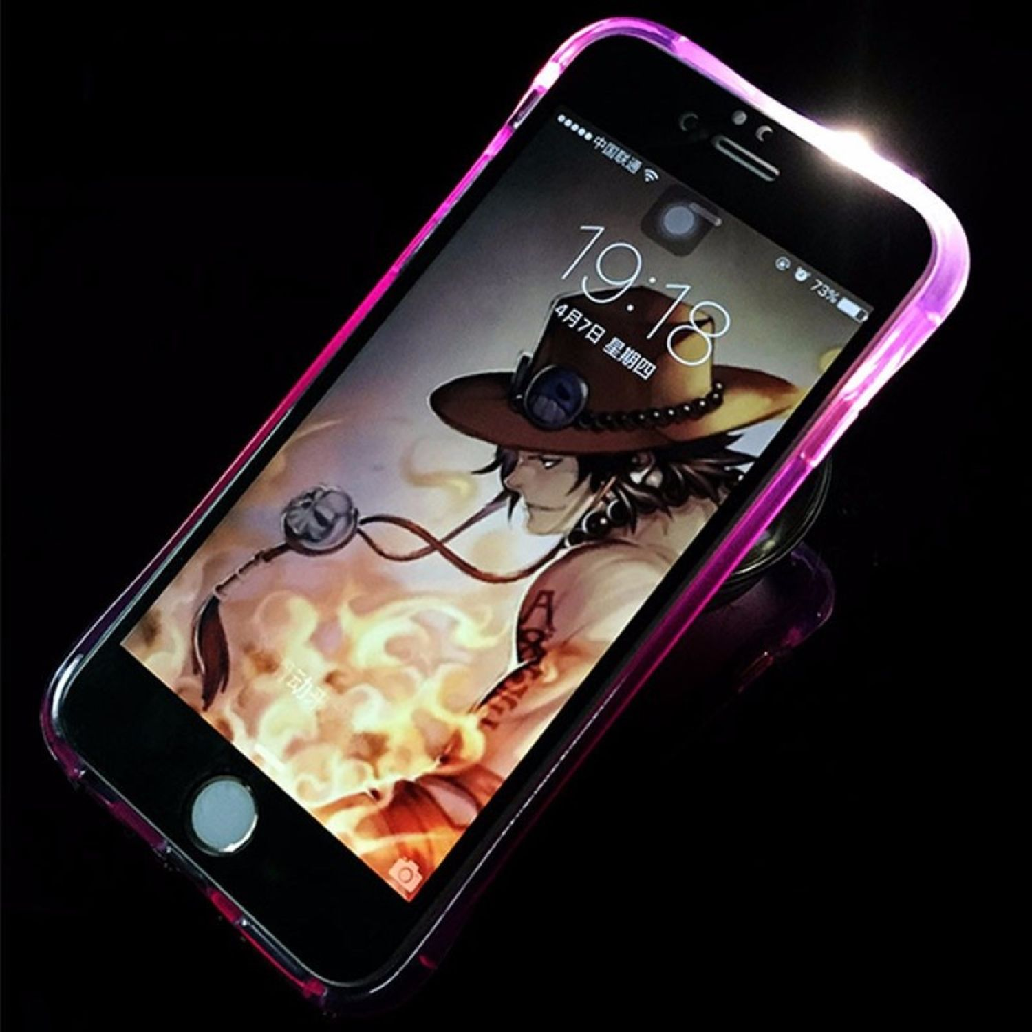 pretty nice 3cabc 05432 Details about Case LED Light Call for Mobile Phone Samsung Galaxy S6 Purple  Case Cover