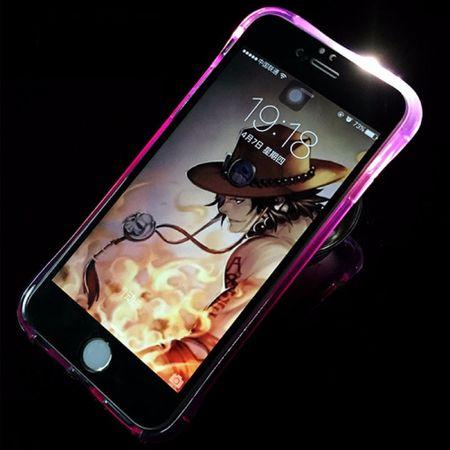 Handy Hülle LED Licht bei Anruf für Handy Samsung Galaxy J7 2016 Violett