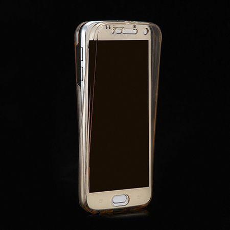 Crystal Case Hülle für Samsung Galaxy A3 2017 Gold Rahmen Full Body – Bild 2