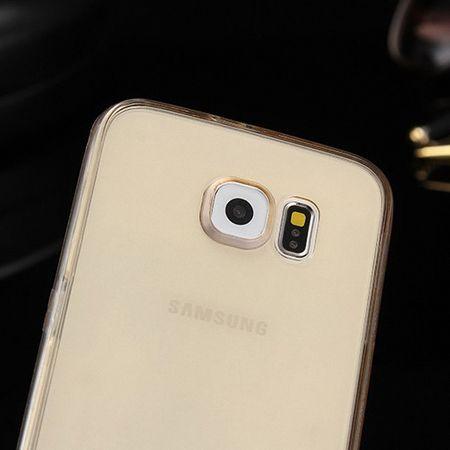 Crystal Case Hülle für Samsung Galaxy A3 2017 Gold Rahmen Full Body – Bild 5