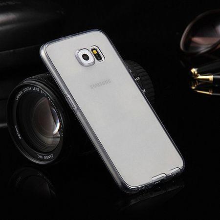 Crystal Case Hülle für Samsung Galaxy S8 Grau Rahmen Full Body – Bild 2