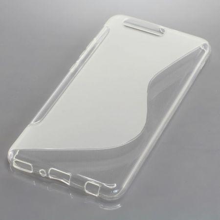 Handy Hülle TPU S-Line Schutz Case Bumper Schale für Huawei P10 Plus Transparent