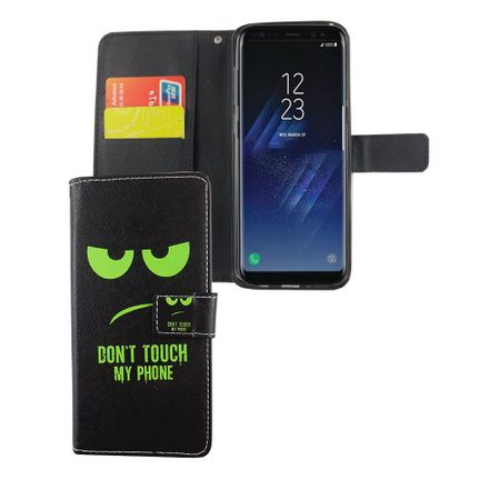 Handyhülle Tasche für Handy Samsung Galaxy S8+ Plus Dont Touch My Phone Grün