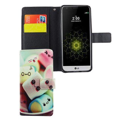 Handyhülle Tasche für Handy LG G6 Schriftzug Marshmallows