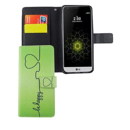 Handyhülle Tasche für Handy LG G6 Be Happy Grün – Bild 4