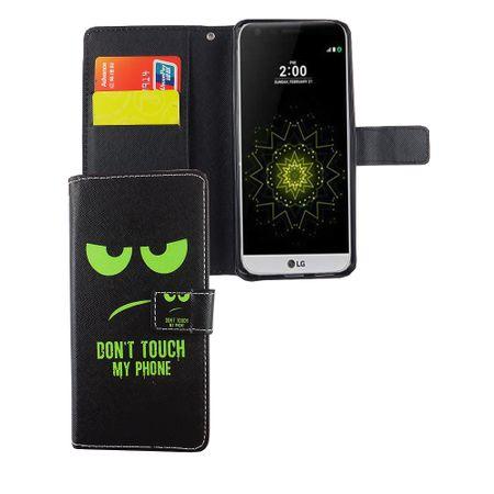 Handyhülle Tasche für Handy LG G6 Dont Touch My Phone Grün