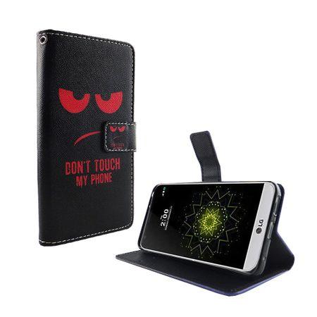 Handyhülle Tasche für Handy LG G6 Dont Touch My Phone Rot – Bild 5