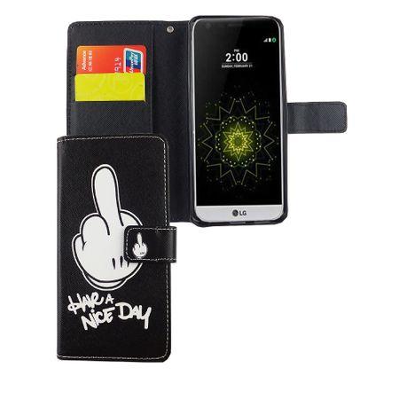 Handyhülle Tasche für Handy LG G6 Have A Nice Day Schwarz