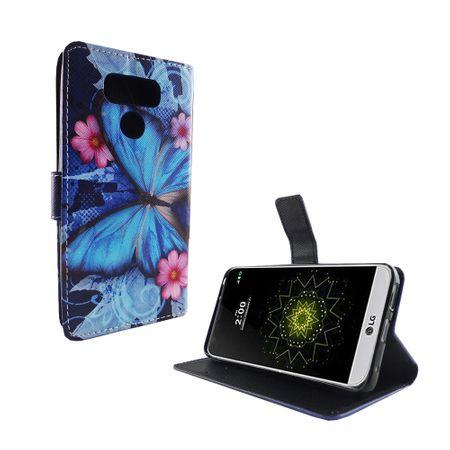 Handyhülle Tasche für Handy LG G6 Blauer Schmetterling – Bild 6