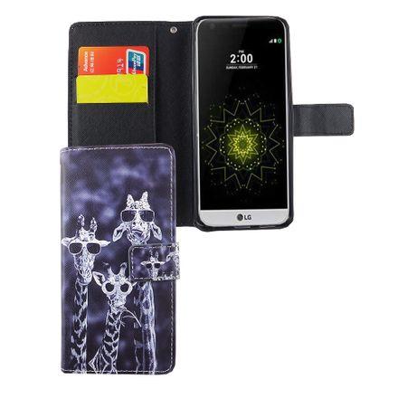 Handyhülle Tasche für Handy LG G6 3 Giraffen