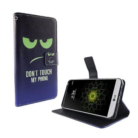 Handyhülle Tasche für Handy LG G6 Dont Touch My Phone Blau / Grün – Bild 2