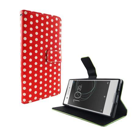 Handyhülle Tasche für Handy Sony Xperia XA1 Polka Dot Rot – Bild 2