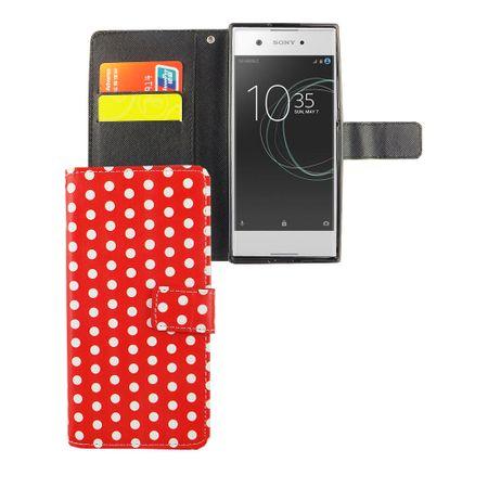 Handyhülle Tasche für Handy Sony Xperia XA1 Polka Dot Rot – Bild 4