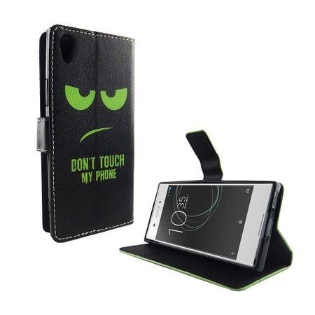 Handyhülle Tasche für Handy Sony Xperia XA1 Dont Touch My Phone Grün – Bild 6