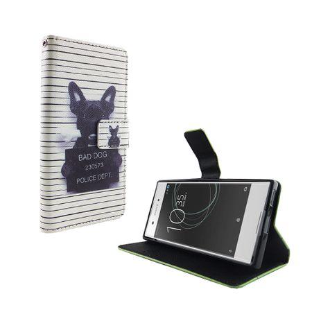 Handyhülle Tasche für Handy Sony Xperia XA1 Böser Hund Weiß – Bild 5