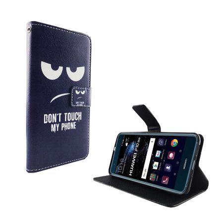 Dont Touch My Phone Handyhülle Huawei P10 Lite Klapphülle Wallet Case – Bild 2