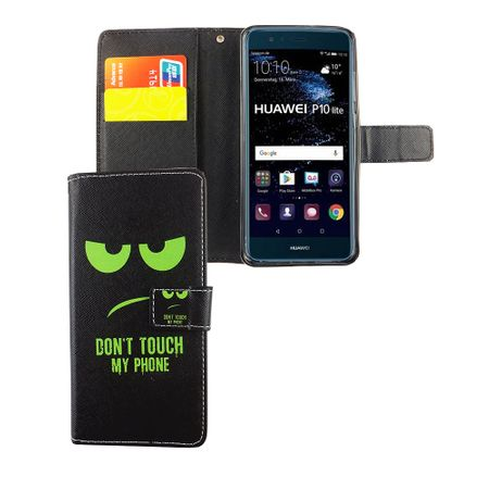 Dont Touch My Phone Handyhülle Huawei P10 Lite Klapphülle Wallet Case – Bild 4