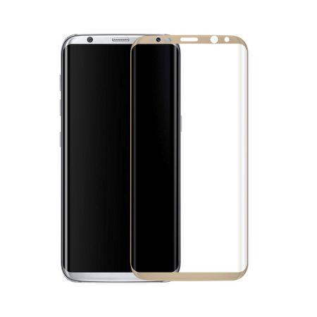 Samsung Galaxy S8 3D Panzer Glas Folie Display 9H Schutzfolie Hüllen Case Gold
