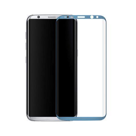 Samsung Galaxy S8 3D Panzer Glas Folie Display 9H Schutzfolie Hüllen Case Blau