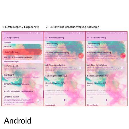 Handy Hülle LED Licht bei Anruf für Handy Samsung Galaxy S8+ Plus Gold – Bild 3