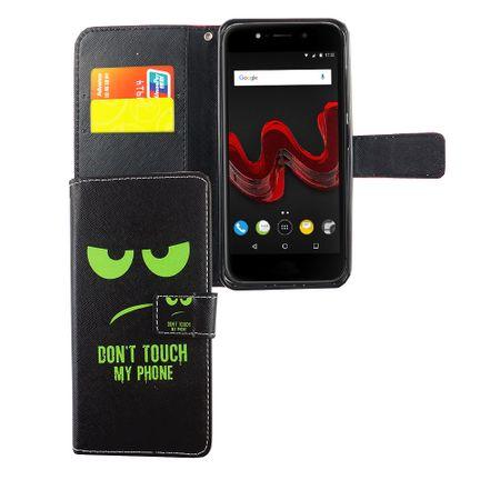 Handyhülle Tasche für Handy Wiko Wim Lite Dont Touch My Phone Grün