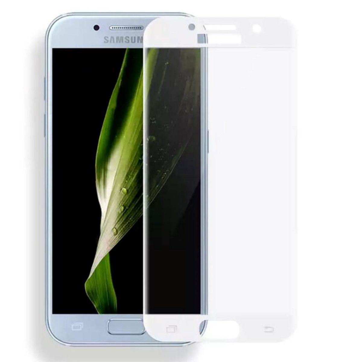 Samsung Galaxy A5 2017 3D Panzer Glas Folie Display 9H Schutzfolie Hullen Case Weiss