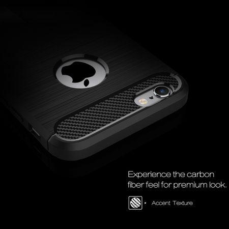 Apple iPhone 6 / 6s Cover TPU Case Silikon Schutz-Hülle Handy Bumper Carbon Optik Blau – Bild 3