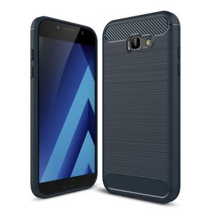 Samsung Galaxy A7 2017 TPU Case Carbon Fiber Optik Brushed Schutz Hülle Blau