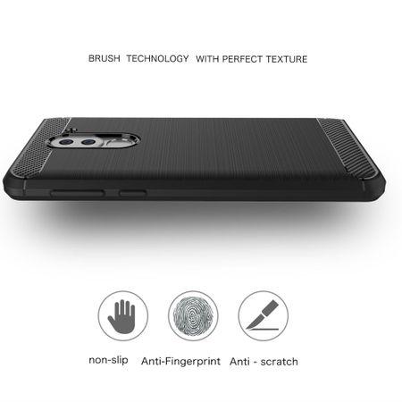 Huawei Honor 6X TPU Case Carbon Fiber Optik Brushed Schutz Hülle Schwarz – Bild 4